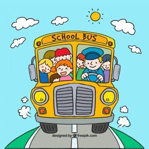 entretenimento em ônibus e van escolar
